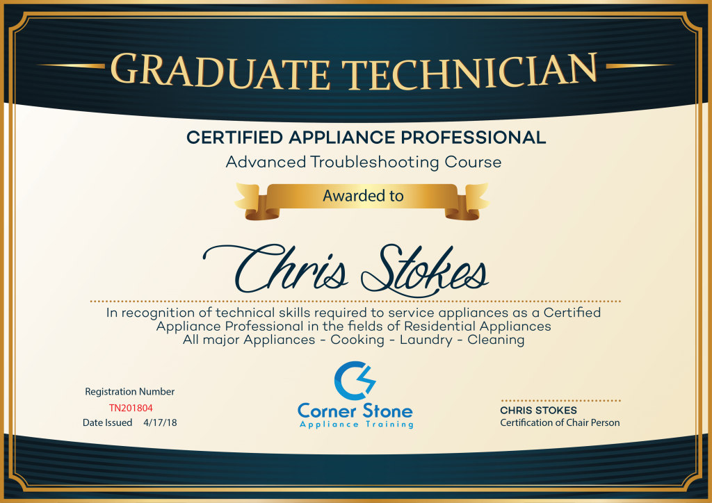 Appliance Certification Certificate Test Exams